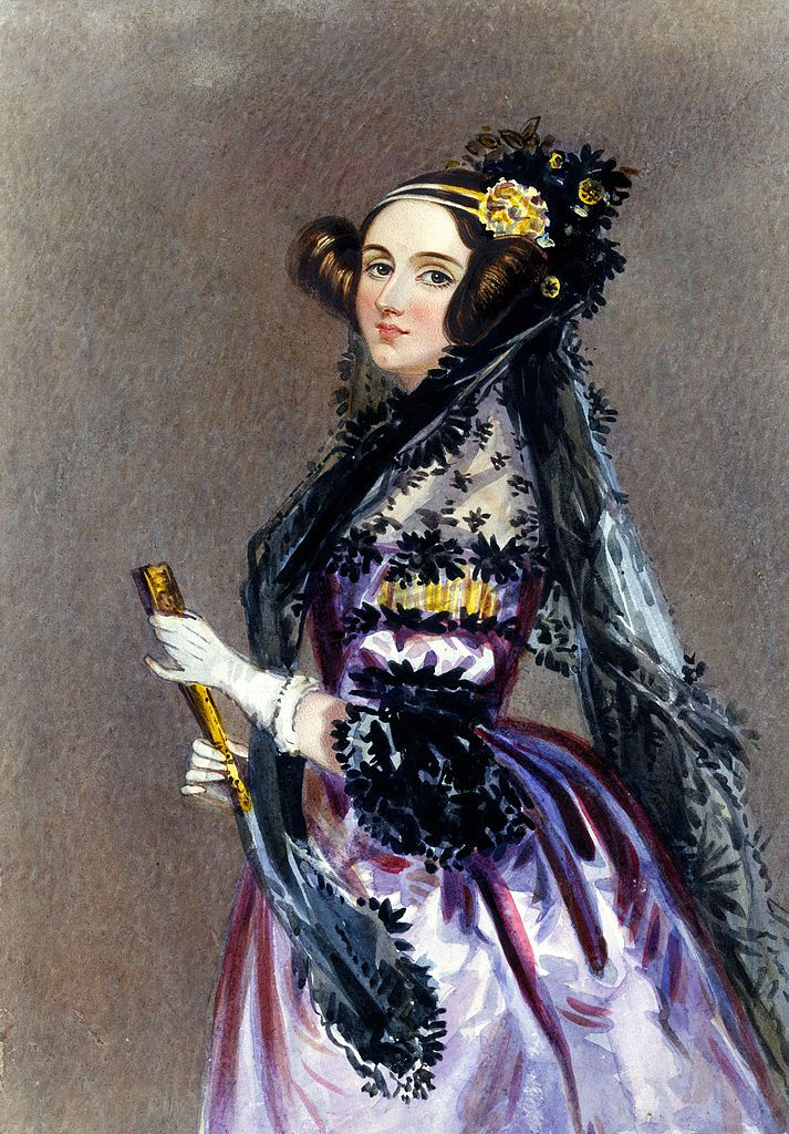 Ada King, Condessa de Lovelace (Retrato de Alfred Edward Chalon, 1840)