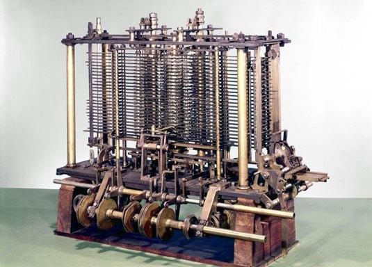 Modelo experimental do Mecanismo Analítico de Babbage, concluído após a sua morte (Museu da Ciência)