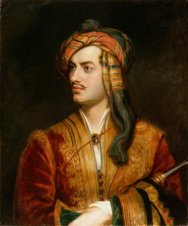 Lord Byron em vestido albanês (Retrato de Thomas Phillips, 1835)/ Wikimedia Commons