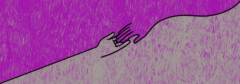 mãos se encontram a procura do equilíbrio