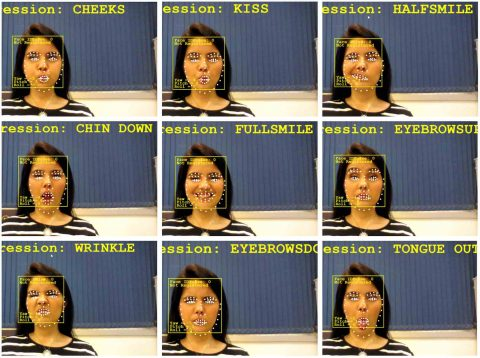 Frame de imagens mostram a tecnologia de reconhecimento facial da Hoobox.