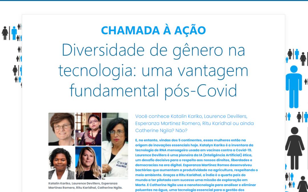 Chamada para a Ação e Pesquisa Internacional GenderScan: Diversidade de gênero em tecnologia, um avanço crucial para a recuperação pós-pandemia!